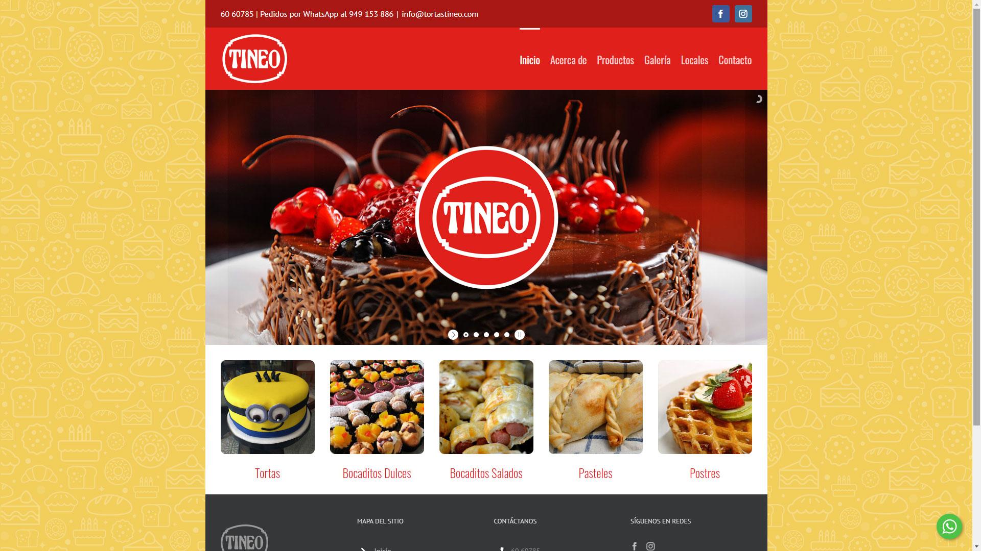 Captura de pantalla de la web tortastineo.com