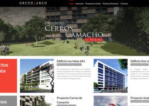 Captura de pantalla de la web arco.com.pe
