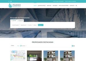 Captura de pantalla de la web tassoinmobiliaria.com
