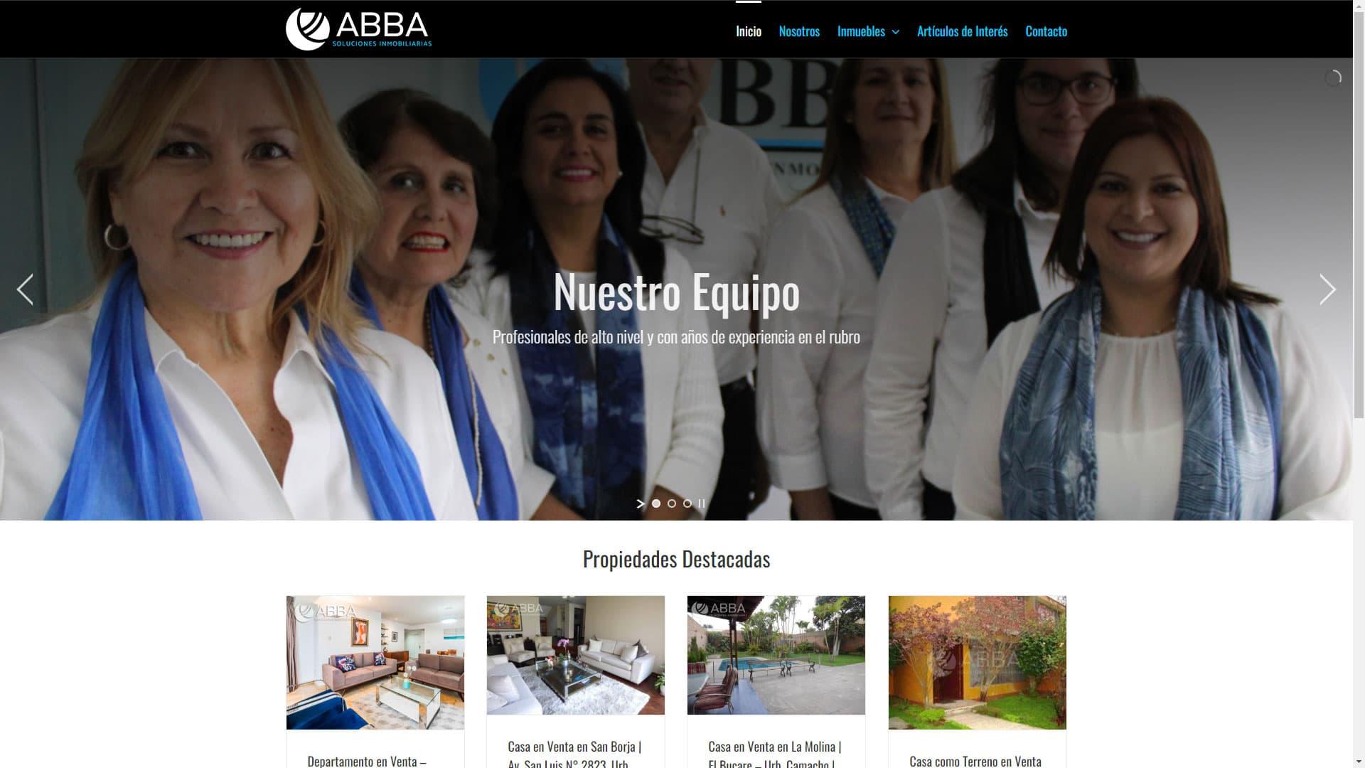 Captura de pantalla de la web abbadelperu.com