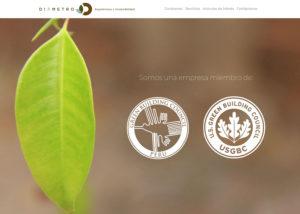 Captura de pantalla de la web diametroarquitectura.com
