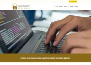 Captura de pantalla de la web itecsana.edu.pe