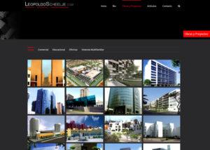 Captura de pantalla de la web leopoldoscheelje.com