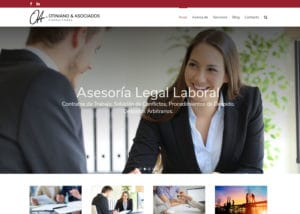 Captura de pantalla de la web otinianoyasociados.com