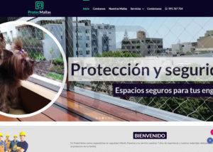 Captura de pantalla de la web protecmallas.com