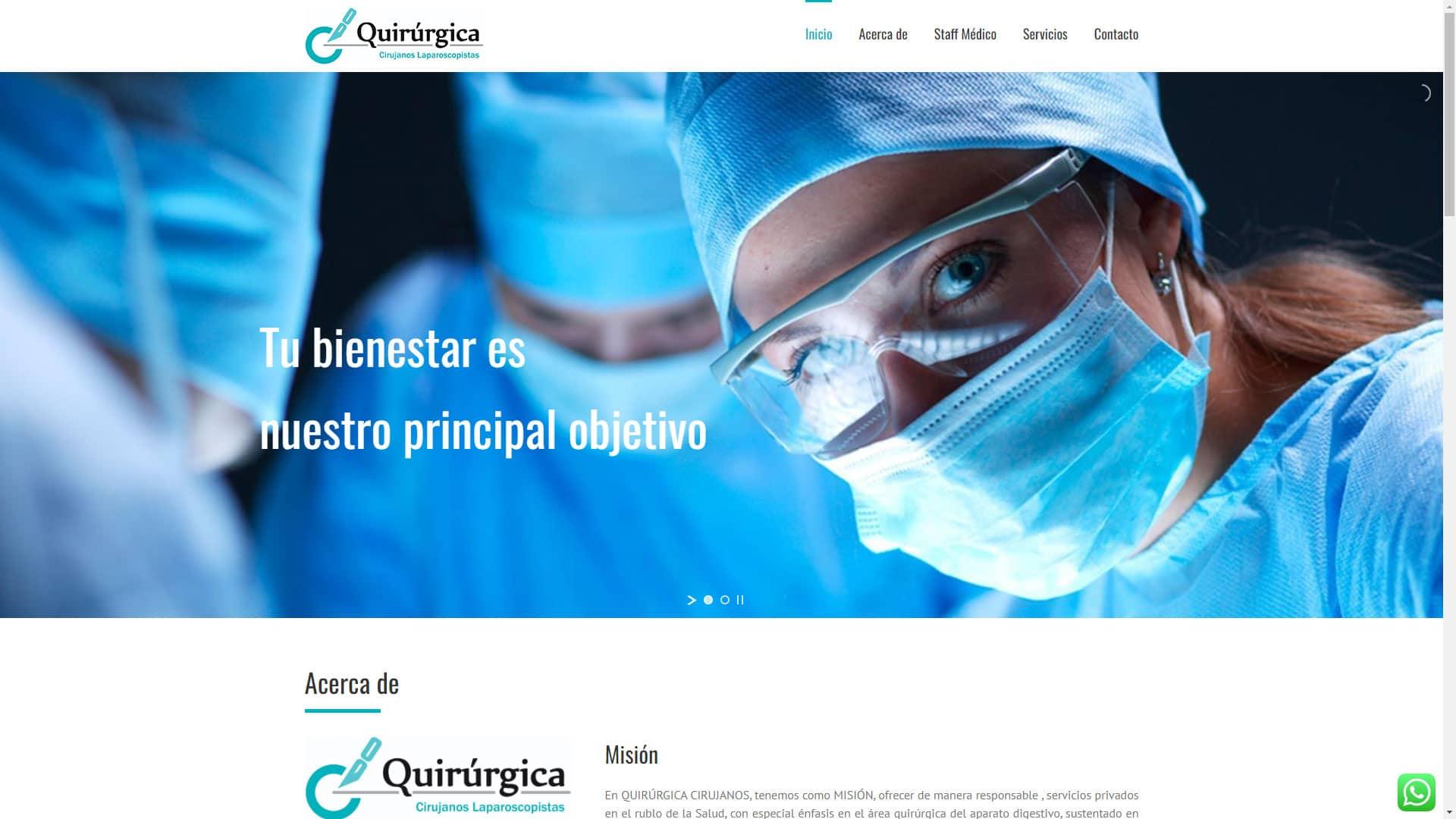 Captura de pantalla de la web quirurgicacirujanos.com