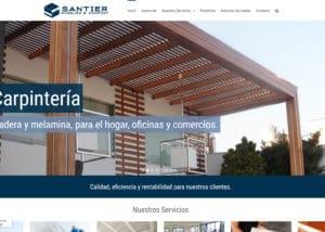 Captura de pantalla de la web santier.pe
